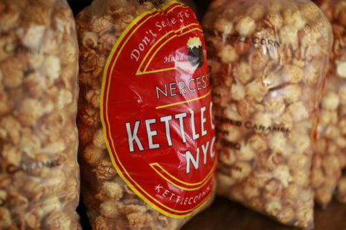 The sweet seductive flavor of caramel glaze kettle corn